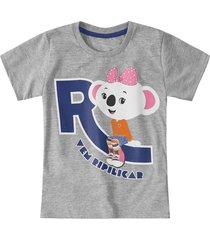camiseta mundo ripilica - 11400086i - cinza - menina - dafiti