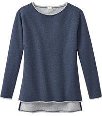 sweatshirt, jeansblauw gemêleerd 44/46