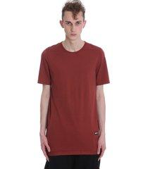 drkshdw level t-shirt in bordeaux cotton