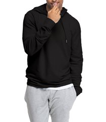 men's swet tailor stretch cotton hoodie, size small - black