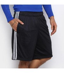 bermuda adidas essentials 3s mesh masculina