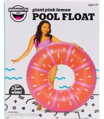 giant pink lemon tube pool float