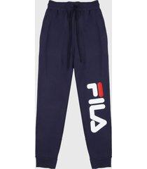 pantalón azul-blanco-rojo fila