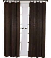 versailles home fashions bamboo wood curtain ring top panel