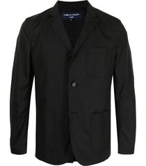 comme des garçons homme camp collar single-breasted blazer - black