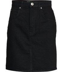 mom denim skirt kort kjol svart gina tricot