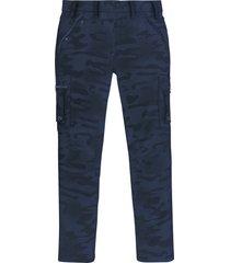pantaloni cargo baggy fit straight (blu) - rainbow