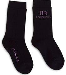 balenciaga logo socks