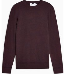 mens red dark purple twist essential sweater