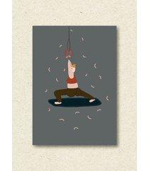 plakat yoginia z kiełbaską