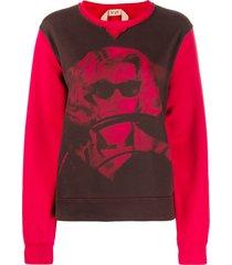 nº21 woman print sweatshirt - red