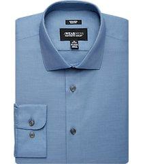 awearness kenneth cole blue slim fit dress shirt