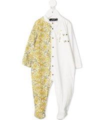 young versace barocco-print pajamas - yellow