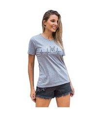 camiseta feminina mirat batimentos mescla