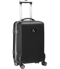 "21"" carry-on hardcase spinner luggage - 100% abs with letter a"