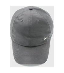 boné nike sportswear h86 cap metal swoos cinza