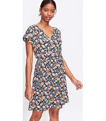 loft petite floral side tie henley swing dress