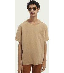 scotch & soda garment-dyed linnen t-shirt