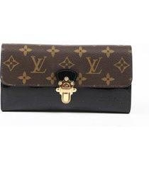 louis vuitton cherrywood wallet black brown monogram patent leather black/brown/monogram sz: