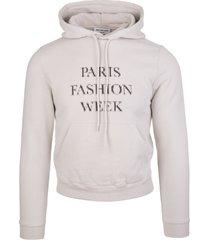 balenciaga unisex grey fashion week shrunk hoodie