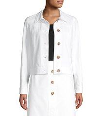 lafayette 148 new york women's donna jacket - white - size 10
