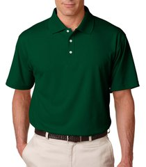 ultraclub 8445 men's stain-release polo shirt - forest green