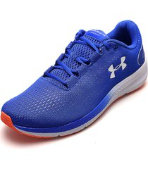 tenis running azul royal-blanco under armour charged pursuit 2