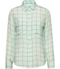 2nd gwen check blouse lange mouwen groen 2ndday