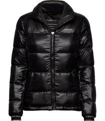 lofty down short jacket fodrad jacka svart calvin klein