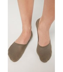 calzedonia unisex cotton invisible socks woman brown size 44-45
