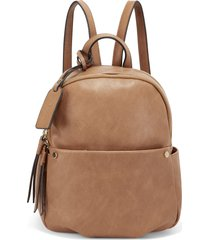 sole society siena faux leather backpack - brown