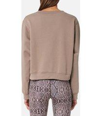 varley women's albata sweatshirt - taupe snake - s - brown