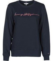 sweater tommy hilfiger annie relaxed c-nk sweatshirt ls
