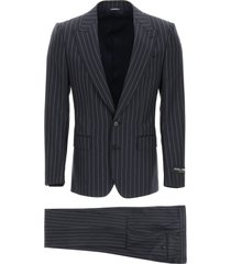 dolce & gabbana sicilia suit in pinstripe wool