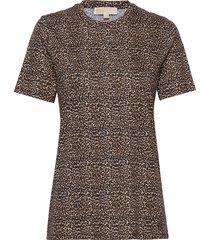 cheetah tee t-shirts & tops short-sleeved bruin michael kors