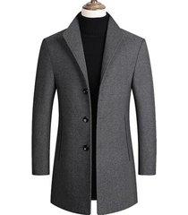 chaqueta abrigo larga hombre lana casual sa837 gris