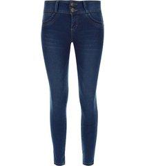 jean mujer moda push up sin bolsillos color azul, talla 10