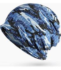 cappotti in cotone camouflage donna cappello elastico antivento cappuccio caldo cappello cappello cap doppio uso
