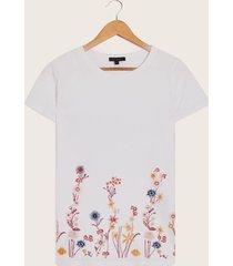 camiseta estampada blanco xs