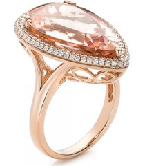 10.70tcw morganite diamond art nouveau engagement ring bridal jewelry free ship