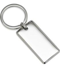 ox & bull trading co. men's rectangle engravable stainless steel key chain
