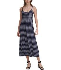 calvin klein striped jersey-knit dress