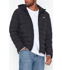 fred perry hooded jacket jackor black