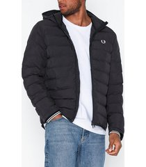 fred perry hooded jacket jackor black