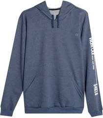 buzo hoodie work out color azul, talla xs