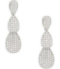 sterling silver simulated diamond teardrop earrings