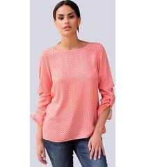 blouse alba moda koraal::steen::offwhite