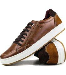 sapatãªnis casual tchwm shoes  4050 couro adulto - caramelo - masculino - couro - dafiti