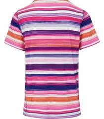 shirt met ronde hals en korte mouwen van looxent multicolour