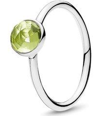 anel gota de peridoto - agosto